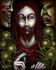 CHRIST SUFFERING FOOLS (rsconnett) Tags: dog fish abstract eye illustration angel drunk ego painting death see oracle bacon idiot war gun thought artist acrylic dinosaur outsider surrealism id fear think extreme birth dream pop dreaming alcoholism robots psycho shit thinking dreams spy drug expressionism bones horror devil impressionism violence dread monstrosity euphoria cyborg dali psychotic addiction junkie addict crucifixion drunkard tippingpoint lowbrow crud tyrannosaurus phoney mental dreamers idiotic castration superego connett castrato morphia