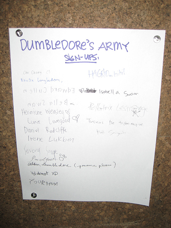 dumbledore's army.