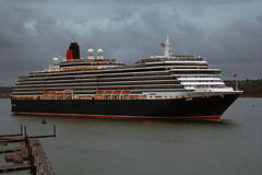 queen victoria (DaveFrost) Tags: cruise canon ship cloudy lifeboat solent southampton tamron cunard queenvictoria liner 30d wwwdavefrostcouk