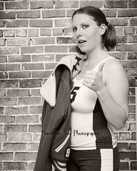 Confession #7 & #8 (Susanne Davis Photography) Tags: school portrait selfportrait up self high highschool jacket sp letter thumbs letterman spandex confession selfie