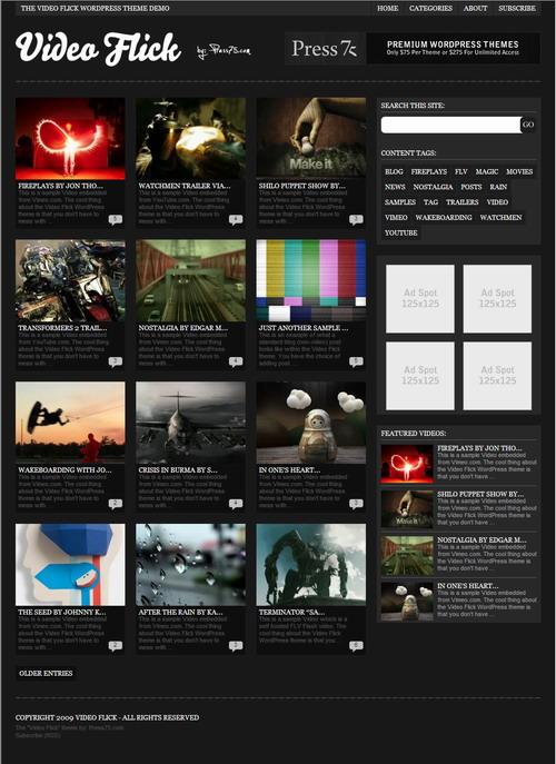 Video Flick v2.4   Prees75 WordPress Premium Theme