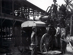 Cement Mixer in Sumay, 1921