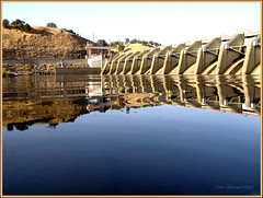 The calm before the storm (etgeek (Eric)) Tags: friends lake reflection output bff spillway americanriver reflectsobsessions 9682742 winksplace absolutelyperrrfect nibusdam natomasacramentodam