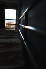 Every morning... (Elios.k) Tags: city morning light reflection window loft bar early bed focus bokeh sleep sheet