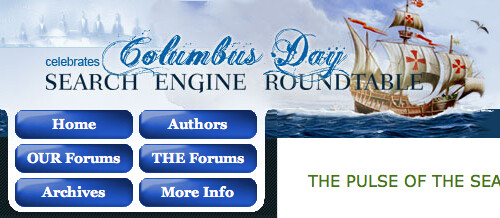 Search Engine Roundtable Columbus Day Theme