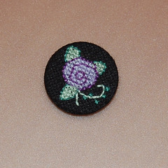 lilac (anonymityblaize) Tags: crossstitch badge button