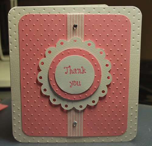 Girly thank you card