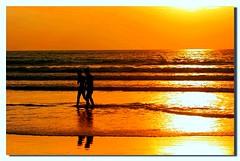 Waiting1 (Dolly MJ) Tags: sunset sky sun color beach borneo redsky sabah kk tanjungaru beautifulsunset colorfulclouds kotakinabalusunset sabahsunset borneosunset beautifulkk