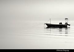 Lonely boat @ Hamala (Helminadia Ranford) Tags: beach boat bahrain gulf country arabia lonely hamala blackwhitephotos