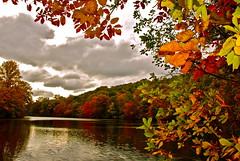 On my Golden Pond!!! (ineedathis) Tags: autumn newyork water colors clouds reflections golden pond nikon huntington longisland autumncolors darkclouds myfavoriteplace coldspringharbor goldenpond d80