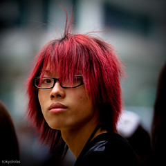 Hong Kong Red Hair (tokyololas) Tags: street portrait people hongkong candid streetportrait tokyololas