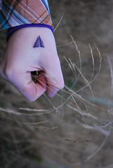 Leaving Everything Behind. (Jawn McClenaghan.) Tags: autumn grass tattoo evening scotland countryside hand fingers eveningsky settingsun endofsummer mky floodofred leavingeverythingbehind handtattoo mikeymcgroary
