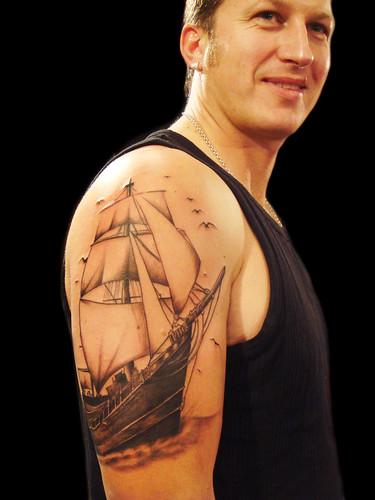 Sailor ship tattoo