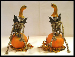 Miniature Pumpkins and Bat-Winged Skeletons (Golden Unicorn Miniatures) Tags: flowers autumn plants plant fall halloween floral miniatures miniature pumpkins mini skeletons florals props prop dollhouse dollshouse breyer onesixthscale peterstone modelhorse onetwelfthscale horseprop goldenunicornminis goldenunicornminiatures oneninthscale