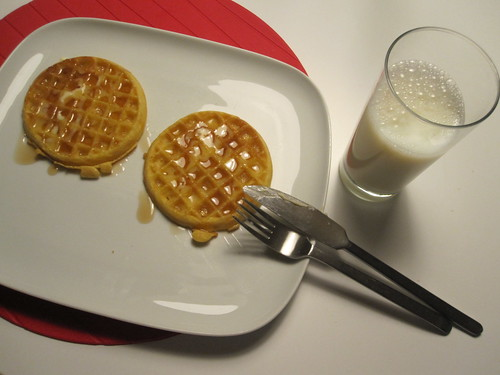 waffles and milk