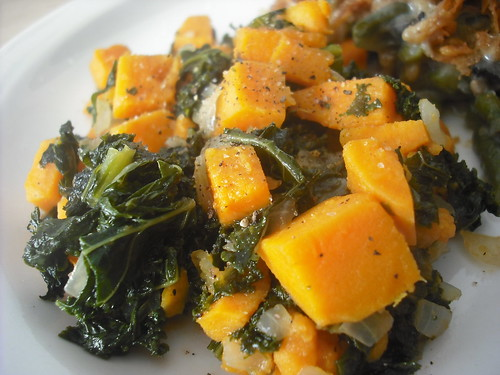 Kale and Sweet Potatoes