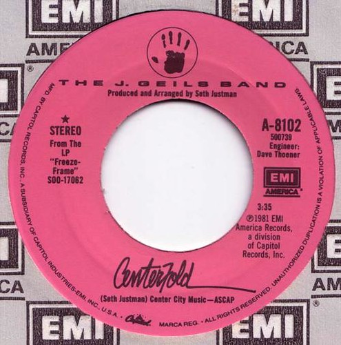 1981 - Centerfold (USA) Pink Label