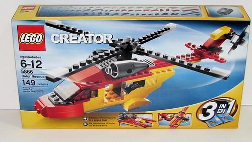 2010 LEGO - Creator 5866 Rotor Rescue - Box Front