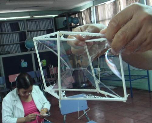 Membranas dentro de un cubo