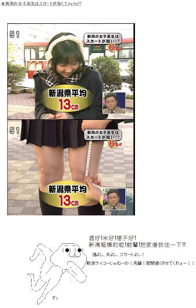 聽說新瀉的女高中生裙子平均長度為膝上13cm (by yukiruyu)