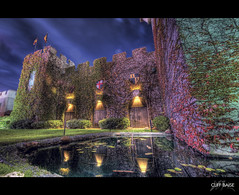 Medieval Moat (Cliff_Baise) Tags: castle reflections dallas nikon fantasy medievaltimes moat magical hdr 1224 editorschoice d700 cliffbaise hdrspotting