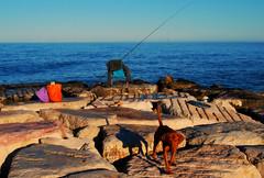 Peppino e il mare... (rossolev) Tags: dog animal cane mare bastard animale abruzzo bastardo foce lafoce roccasangiovanni