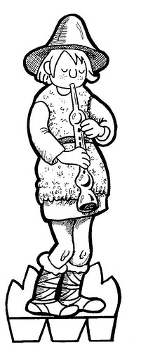 036-Figura de recortable para belen-para pintar por niños