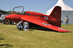 Messerschmitt Me-163 Komet (philoufr) Tags: red vintage rouge aircraft military airshow static militaire avion worldwar2 ancien meetingarien deuximeguerremondiale nikond90 ausol nikkor18105mmf3556gvr messerschmittme163komet meetinglafertalais2009