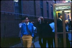 Street Scene NYC, June 1966 (KurtClark) Tags: newyorkcity june 1966 telephonebooth