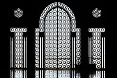 Arabian Gate Silhouette, Casablanca (Brave Lemming) Tags: door black window fountain silhouette architecture design gate room muslim islam religion mosque morocco maroc frame casablanca arabian ablution hassanii hassaniimosque