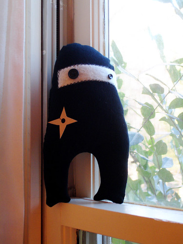 A Plush A Day Challenge: Days 26 - Ninja!
