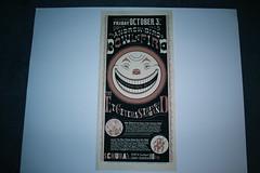 comics poster silkscreen chrisware andrewbird schubas bowloffire etceterastringband