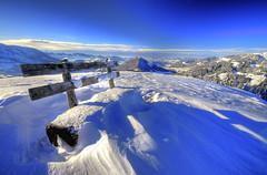 Blue sky and a bench HDR - Winter version! (diamir8000) Tags: winter snow cold nature bench geotagged austria natur bluesky hdr vorarlberg bregenzerwald mywinners vorderwald sibratsgfll platinumheartaward mygearandmepremium renknie mygearandmebronze mygearandmesilver mygearandmegold gettyimagessalq1