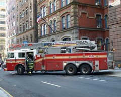 "E039l FDNY ""Gold Coast"" Ladder 16, Upper East Side, New York City (jag9889) Tags: county city nyc house ny newyork building classic station architecture truck fire manhattan side east company upper borough 16 ladder firehouse fdny 2009 department firefighters uppereastside seagrave goldcoast bravest ladder16 y2009 e039 jag9889"