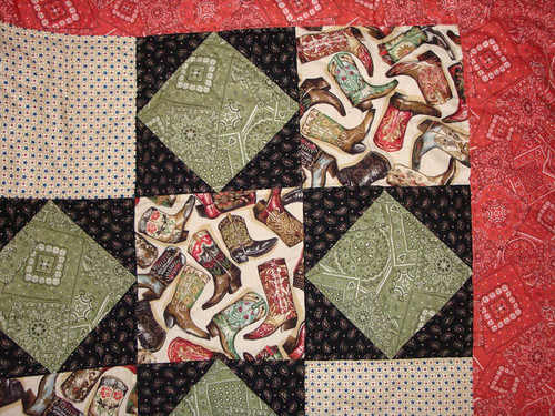 Western Prints Quilt Close-up