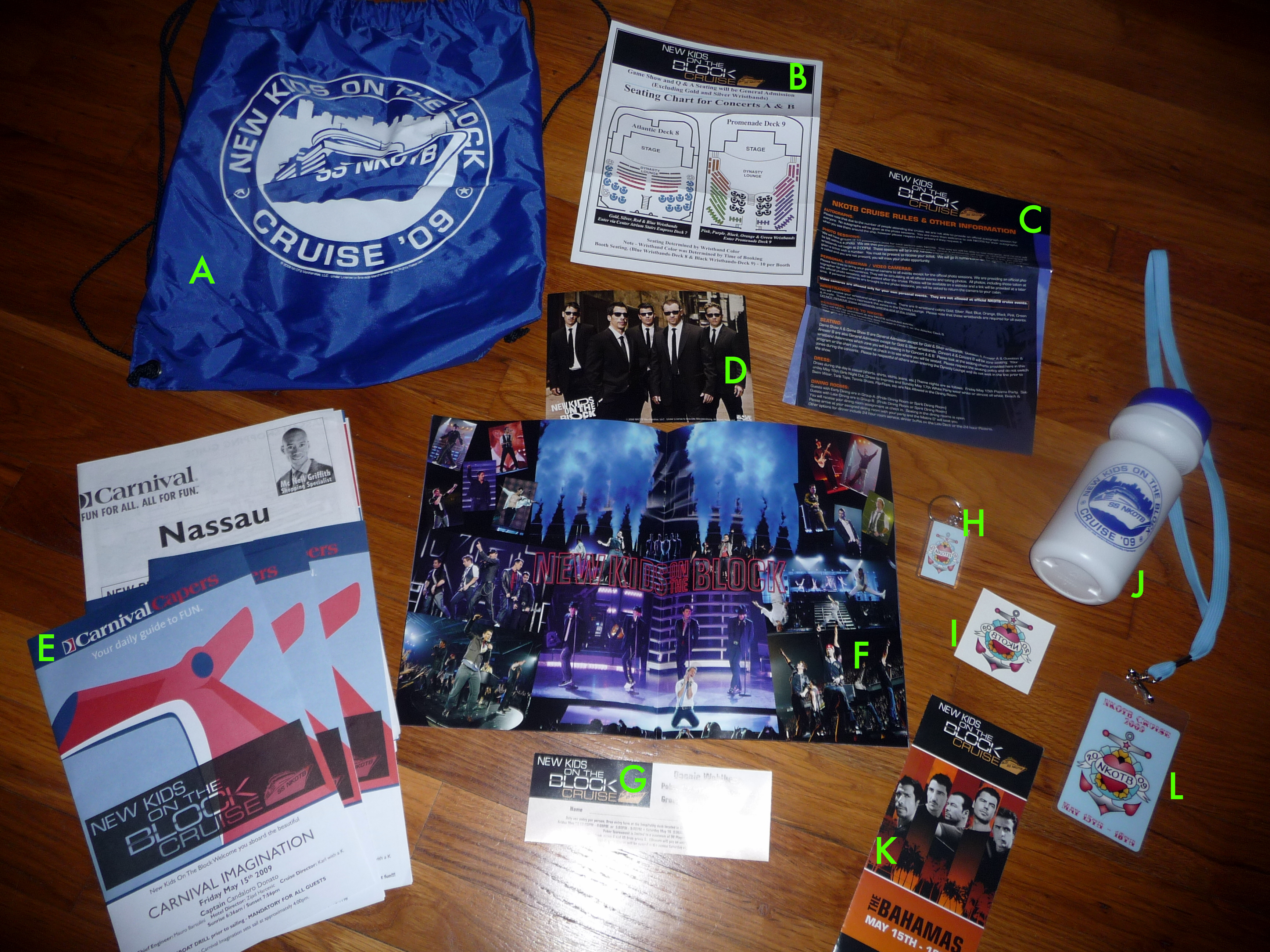 ... the 2009 cruise I completely forgot about the promised goody bag we were to receive until I made it to my cabin and saw it waiting for me on my bed. & nKoTb Summer Cruise 2012: Contestants not appearing on stage will ...