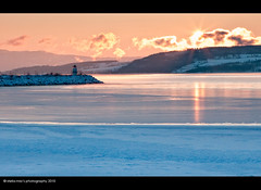 freezing point (-18C) (stella-mia) Tags: sun lighthouse ice norway clouds sunrise hamar mjsa hedmark 2470mm hightlight helgya canon5dmkii lakemjsa updatecollection