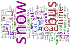 Word cloud (Katie-Rose) Tags: road uk snow bus vertical horizontal blog words time katierose wordcloud wwwwordlenet