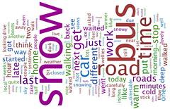 Word cloud (Katie-Rose) Tags: road uk snow bus vertical horizontal blog words time katierose wordcloud wwwwordlenet
