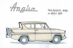 Anglia (gerard michel) Tags: auto ford car sketch anglia croquis