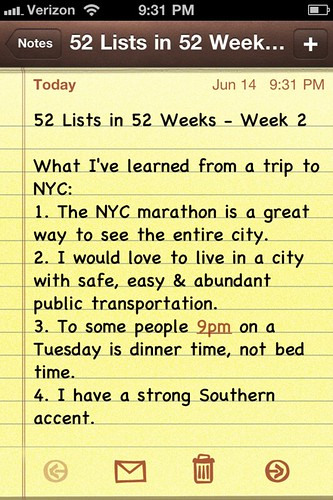 52 Lists in 52 Weeks || Week 2