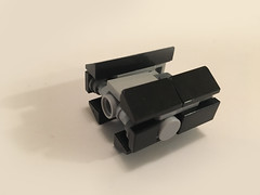 Lego Micro Scale Vader's Tie Advance (richardvanas1) Tags: lego star wars micro scale moc tie fighter