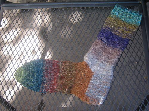 Madder Ribbed Sock with Noro 1