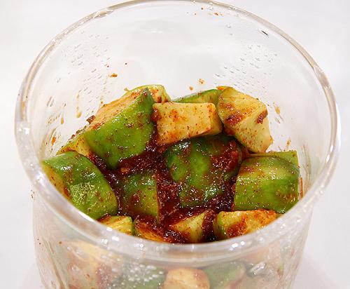 自己做泡菜。青蘿蔔泡菜-090721