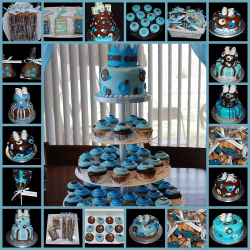 baby boy shower. Blue and Brown Baby Shower