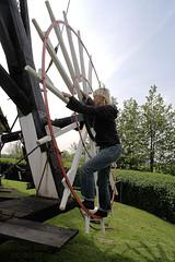 Kruien van de Blauwe Molen (Quistnix!) Tags: windmill moulin molen windmolen vindmlle windmhle molinodeviento moinhodevento moulinvent mulinoavento vderkvarn kruien   kruiwiel blauwemolen