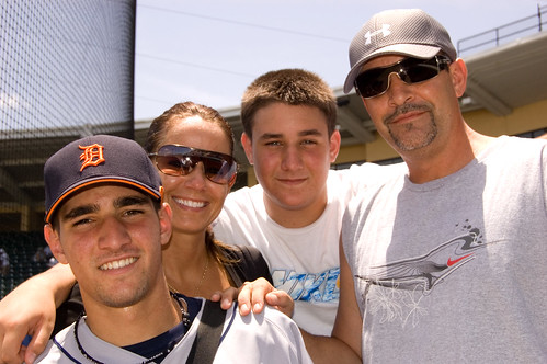 2009 Aug 1 #30 Nick Castellanos & family