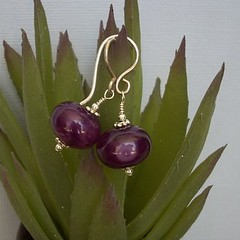 Desert Voices Earrings (jillemina) Tags: utah purple desert dinosaur handmade jewelry piercing homemade ear etsy dangle grape voices sterlingsilver amberhill grapequartz