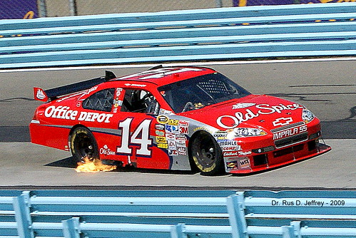 Tony Stewart – Smoke and Fire!