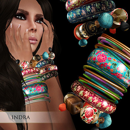 Zaara : Indra painted stacked bracelets